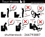 toilet hygiene   stick man...   Shutterstock .eps vector #266793887