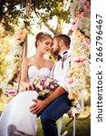 wedding day. bride and groom... | Shutterstock . vector #266796467