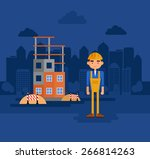 work on the construction site. | Shutterstock .eps vector #266814263