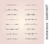 set of calligraphy design... | Shutterstock .eps vector #266824607
