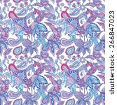 Blue And Pink Ethnic Pattern  ...