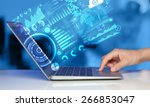 modern notebook computer with... | Shutterstock . vector #266853047