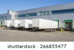 trailers at docking stations of ... | Shutterstock . vector #266855477