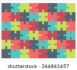 Colorful Puzzle  Vector...