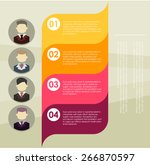 background for business. label... | Shutterstock .eps vector #266870597
