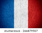 flag of france or french banner ... | Shutterstock . vector #266879507