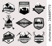 adventure  outdoors  camping... | Shutterstock .eps vector #266889773