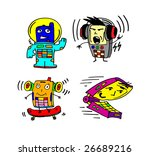 funny toy phone 7 | Shutterstock . vector #26689216