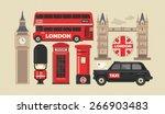flat modern vector london  the... | Shutterstock .eps vector #266903483