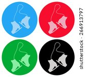 skating icon | Shutterstock .eps vector #266913797