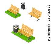 a vector illustration of a park ... | Shutterstock .eps vector #266923613