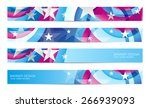 modern american vector banners...
