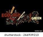 vector concept or conceptual... | Shutterstock .eps vector #266939213