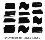 brush strokes set. paintbrush...   Shutterstock .eps vector #266942657