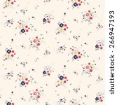 trendy seamless floral pattern... | Shutterstock .eps vector #266947193