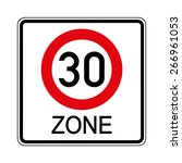 road sign. prohibitory sign.... | Shutterstock .eps vector #266961053