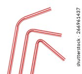 Drinking Straws Isolated On A...