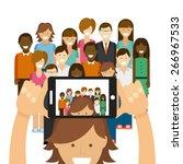 photo selfie design  vector...   Shutterstock .eps vector #266967533