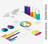 flat 3d isometric infographic... | Shutterstock .eps vector #266967623