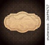 vintage label design old... | Shutterstock .eps vector #266996717