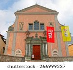 church on the square in... | Shutterstock . vector #266999237