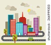 city flat vector | Shutterstock .eps vector #266999303