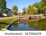 stone bridge  reflected in the... | Shutterstock . vector #267006653