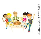 vector illustration with... | Shutterstock .eps vector #267011627