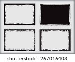 grunge frame.grunge background... | Shutterstock .eps vector #267016403