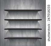 empty white shelves on the... | Shutterstock .eps vector #267018233