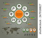 ecology infographic with map ... | Shutterstock .eps vector #267018827