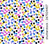 ditsy vector polka dot pattern...   Shutterstock .eps vector #267024407