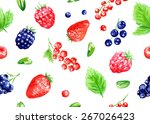 seamless vector pattern with... | Shutterstock .eps vector #267026423