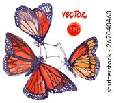 vector butterfly painted in... | Shutterstock .eps vector #267040463