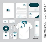 vector brochure  flyer ... | Shutterstock .eps vector #267042617
