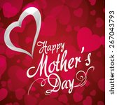 happy mothers day card design ... | Shutterstock .eps vector #267043793