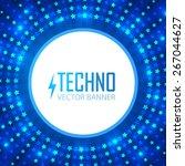 shining blue circle techno...