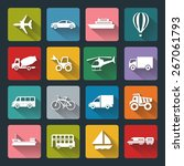 vector design flat icons of... | Shutterstock .eps vector #267061793