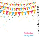multicolored bright buntings... | Shutterstock .eps vector #267082157