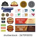 promotional   marketing set.... | Shutterstock .eps vector #267093053