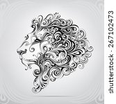 the head of a lion in an...   Shutterstock .eps vector #267102473