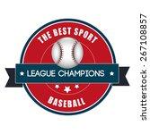 baseball design over white... | Shutterstock .eps vector #267108857