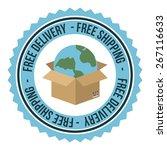 delivery design over white... | Shutterstock .eps vector #267116633