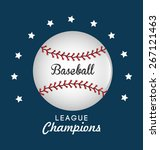 baseball design over blue... | Shutterstock .eps vector #267121463