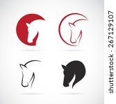 Stock vector vector images of horse design on a white background vector horse head for your design 267129107