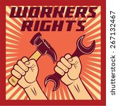 workers rights poster... | Shutterstock .eps vector #267132467