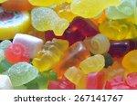 Macro Detail Of Lollipop  Gumm...