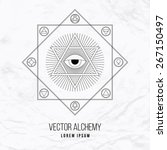 vector geometric alchemy symbol ... | Shutterstock .eps vector #267150497