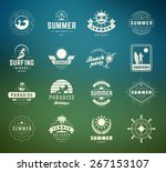 summer holidays labels design... | Shutterstock .eps vector #267153107