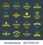 summer holidays labels design... | Shutterstock .eps vector #267153113